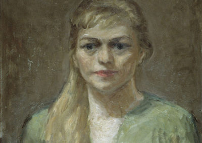 Rudolf Rothe: Claire; ca. 1963 Öl auf Sperrholz; 60x50 cm
