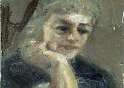 Rudolf Rothe: Claire; ca 1963 Öl auf Sperrholz; 56x43,5 cm