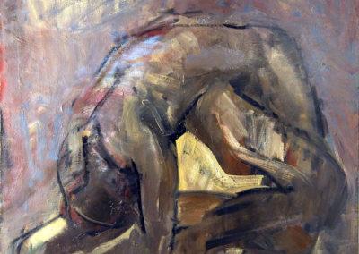 Rudolf Rothe: Figur; 1965 Öl auf Leinwand; 121x125 cm