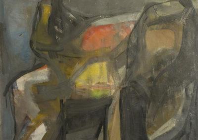 Rudolf Rothe: Figur; ca. 1966 Öl auf Leinwand; 110x120 cm