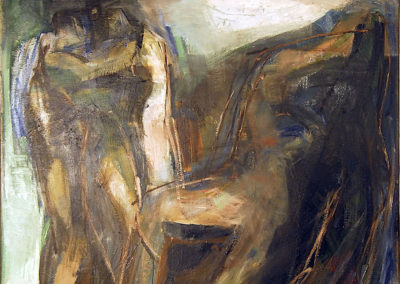 Rudolf Rothe: figures (from Ovid's metamorphosis ?); 1965 oil on canvas; 115x125 cm