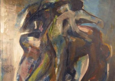 Rudolf Rothe: Figurengruppe; 1965 Öl auf Leinwand; 110x120 cm
