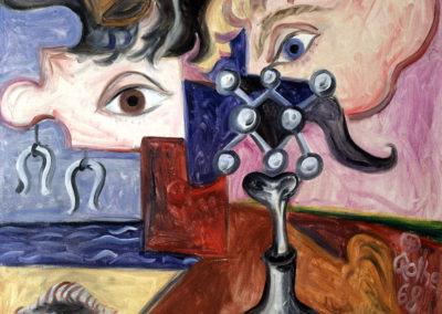 Rudolf Rothe: Fragmente; 1968 Öl auf Baumwoll-Mischgewebe; 60x70 cm