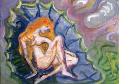 Rudolf Rothe: Geburt der Venus; ca 1995 Öl auf Leinwand; 50x60 cm