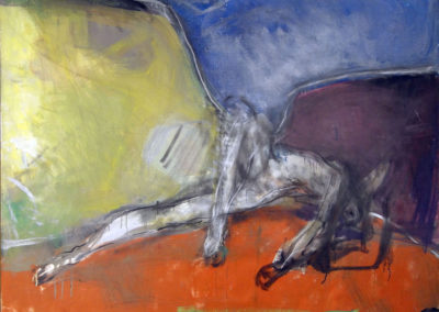 Rudolf Rothe: Ikarus; ca. 1964 Öl auf grober Leinwand; 120x180 cm