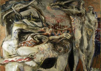Rudolf Rothe: Laokoon von Wuppertal, zweite Version; 1966-67 Öl auf Leinwand; 125x150 cm