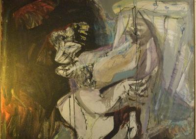 Rudolf Rothe: Saul und David; 1966 Öl auf Leinwand; 110x120 cm