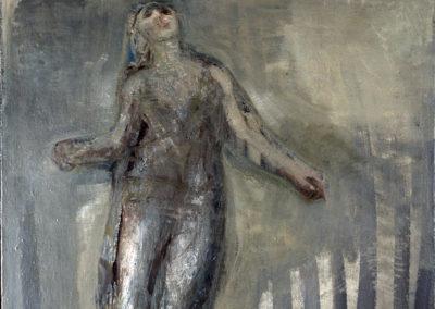 Rudolf Rothe: Tänzerin; 1966 verm. Acryl auf Leinwand; 120x110 cm