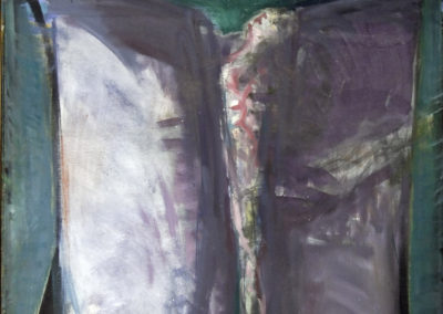 Rudolf Rothe: danseuse with shawls waving; ca. 1967 oil on canvas; 120x111 cm