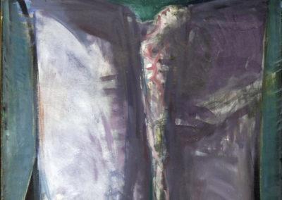 Rudolf Rothe: Tänzerin mit ausgebreiteten Tüchern; ca 1967 Öl auf Leinwand; 120x111 cm