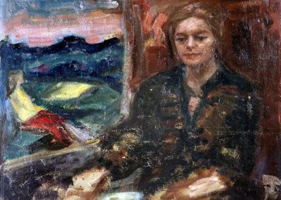 Rudolf Rothe: Zwei Lebensalter (Claire); ca. 1965 Öl auf Hartfaser; 90x100 cm