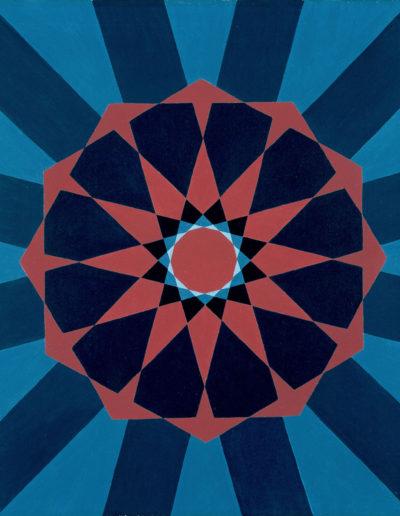 Ruth Klausch: Arabischer Strahlenstern; 50 x 60 cm; Öl auf Leinwand, 1972