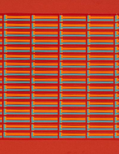 Ruth Klausch: Discipline; 70 x 50 cm; Screen collage on chipboard, 1975